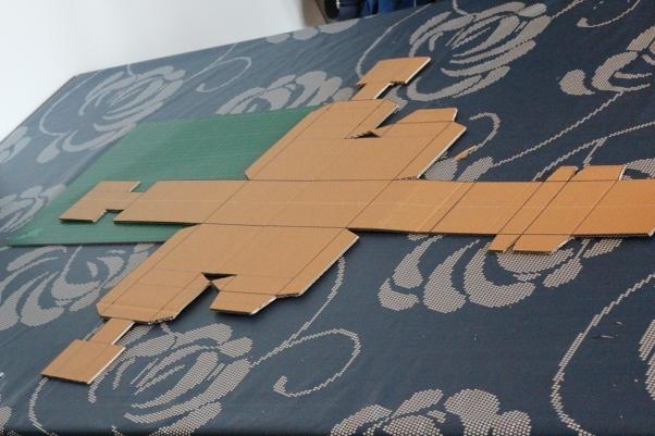 Cardboard model cut out